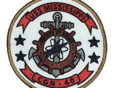 USS MISSISSIPPI CGN-40 Patch – Sew On