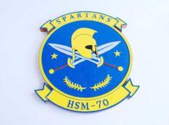 HSM-70 Spartans Plaque
