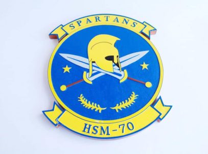 HSM-70 Spartans Plaque