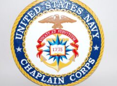 US Navy Chaplain Corps Plaque