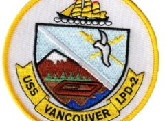 USS VANCOUVER LPD-2 Patch – Sew On