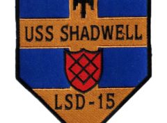 USS SHADWELL LSD-15 Patch – Sew On