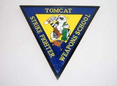 Tomcat Strike Fighter Weapons School Plaque
