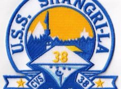 USS Shangri-La CVS-38 Patch - Sew On
