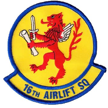 16th Airlift Squadron Patch – Sew On