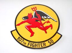 107th Fighter Squadron Plaque