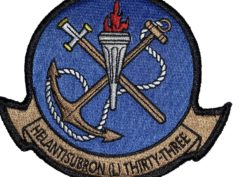 HSL-33 Seasnakes Squadron Patch –Sew On