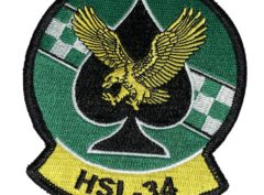 HSL-34 Green Checkers Squadron Patch –Sew On