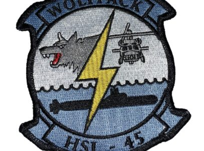 HSL-45 Wolfpack Squadron Patch –Sew On