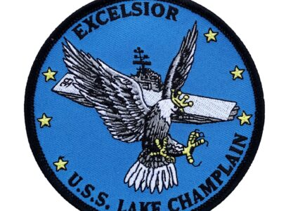 USS Lake Champlain EXCELSIOR (CV-39) Patch - Sew On