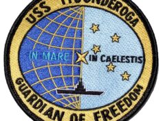 USS Ticonderoga (CVS-14) GUARDIAN OF FREEDOM Patch - Sew On