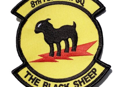 8th Fighter Squadron The Black Sheep Patch – Sew On