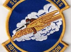 40th Airlift Squadron SCREAMING EAGLES Patch – Sew On