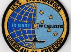 USS Ticonderoga (CVS-14) GUARDIAN OF FREEDOM Patch - Sew On