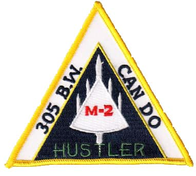 305th B.W. CAN DO M-2 HUSTLER Patch – Sew On