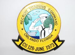Navy Recruit Training Command Orlando Plaque