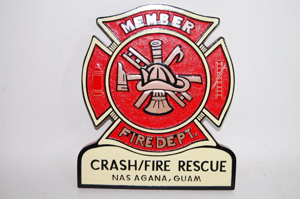Fire Dept Shield - Crash/Fire Rescue Agana Guam Plaque