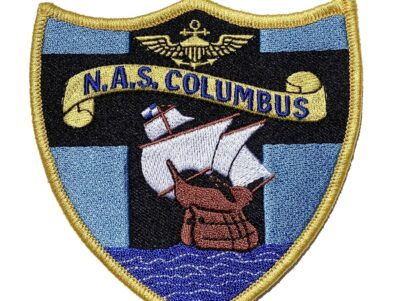 N.A.S. COLUMBUS Patch – Plastic Backing