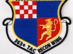 Voin Cest Covuoin 363rd Tactical Reconnaissance Wing Patch – Sew On