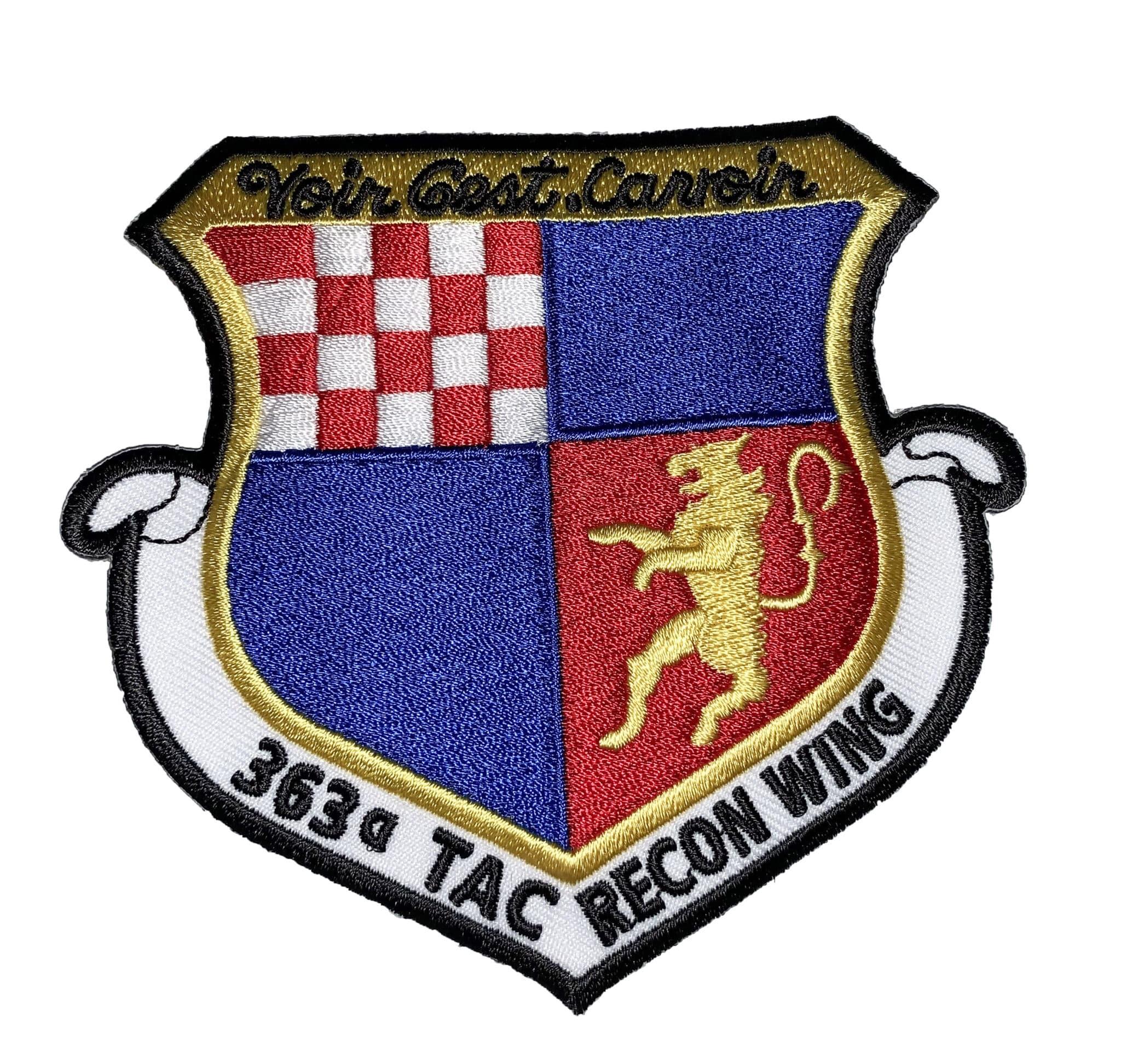 Voir C'est Saviour 363rd Tactical Reconnaissance Wing Patch – Sew On