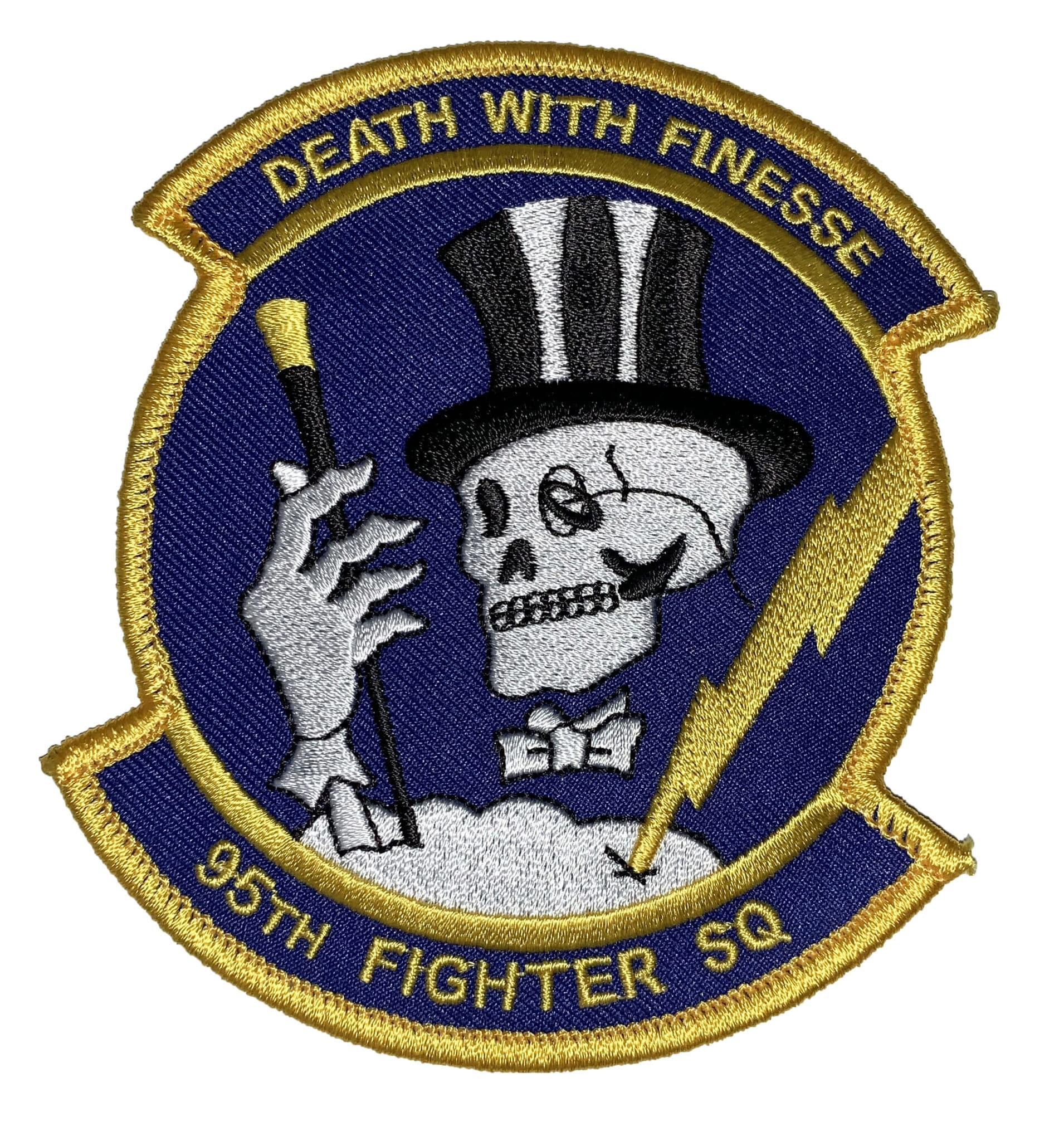 95th Fighter Squadron DEATH WITH FINESSE Patch – Sew On