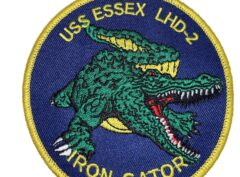USS Essex Gator LHD-2 Patch – Sew On