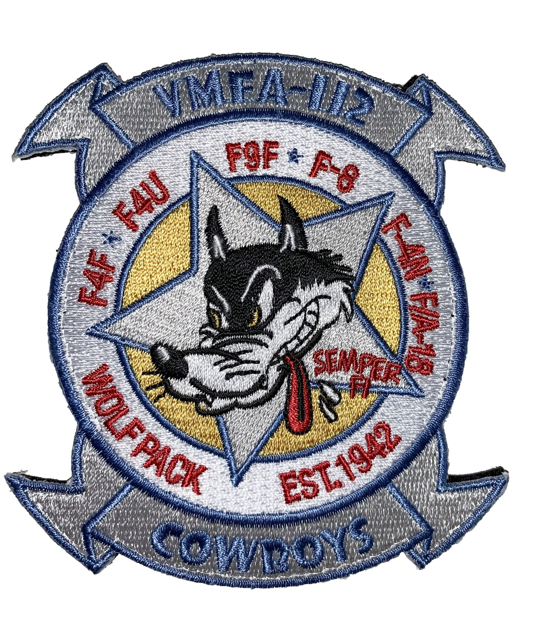 4 inch VMFA-112 Cowboys 2019 Squadron Patch – Sew On