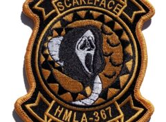 HMLA-367 Scarface Halloween Patch – Sew On