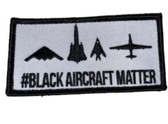 #Black Aircraft Matter Patch – Sew On
