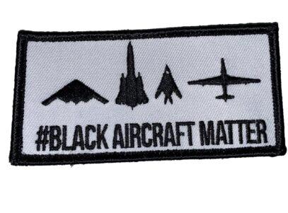 #Black Aircraft Matter Patch – Sew On