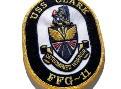USS Clark FFG-11 Patch - Sew On