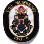 USS McInerney FFG-8 Patch – Sew On