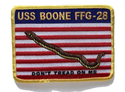USS BOONE FFG-28 Patch – Sew On