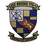 USS BROOKE FFG-1 Patch – Sew On