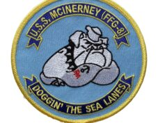 USS McInerney FFG-8 (Doggin The Sea Lanes) Patch – Sew On