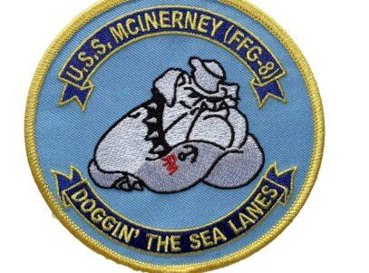 USS McInerney FFG-8 (Doggin The Sea Lanes) Patch – Sew On