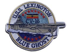USS Lexington CV-16 Blue Ghost Patch – Sew On