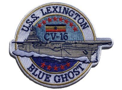 USS Lexington CV-16 Blue Ghost Patch – Sew On