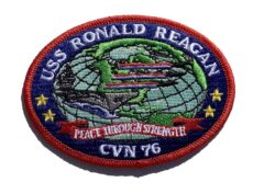 USS Ronald Regean CVN-76 Patch – Sew On