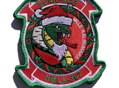 HMLA-367 Scarface Christmas Patch – Sew On