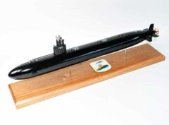 USS Montpelier SSN-765 (Black Hull) Submarine Model