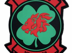 VMM-363 Lucky Red Lions PVC Glow in the Dark Patch – Hook and Loop