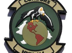 HMH-464 Condors Green PVC Patch –Hook and Loop