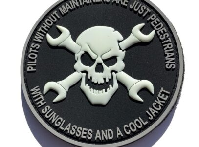 Aircraft Maintainer PVC Patch Patch –Hook and Loop
