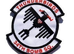 34th Bomb Squadron Thunderbirds Patch – Sew On