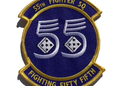 55th Fighter Squadron Fighting Fifty Fifth Patch – Sew On