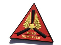 MCAS New River PVC patch - Hook and Loop