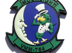 VMM-764 Moonlight (Top Hat) PVC Patch –Hook and Loop