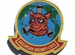 VMM-262 Sadurday Grumpy Cats PVC Squadron Patch – Hook and Loop