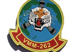 VMM-262 Flying Tigers Full Color PVC Squadron Patch – Hook and Loop